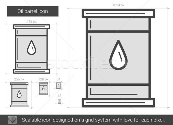 Stockfoto: Olie · vat · lijn · icon · vector · geïsoleerd