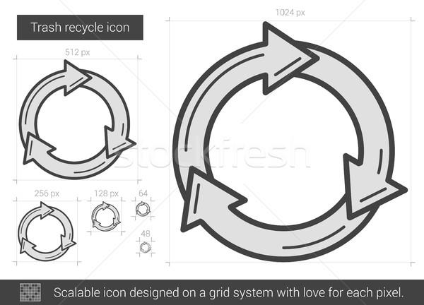 Papierkorb Recycling line Symbol Vektor isoliert Stock foto © RAStudio