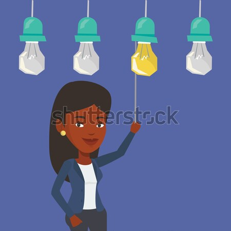 Woman having business idea vector illustration. Stock photo © RAStudio