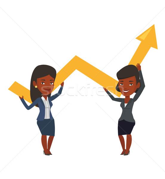 Due imprenditrici crescita grafico Foto d'archivio © RAStudio
