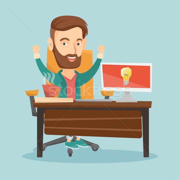 успешный бизнеса Идея молодые деловой человек Сток-фото © RAStudio