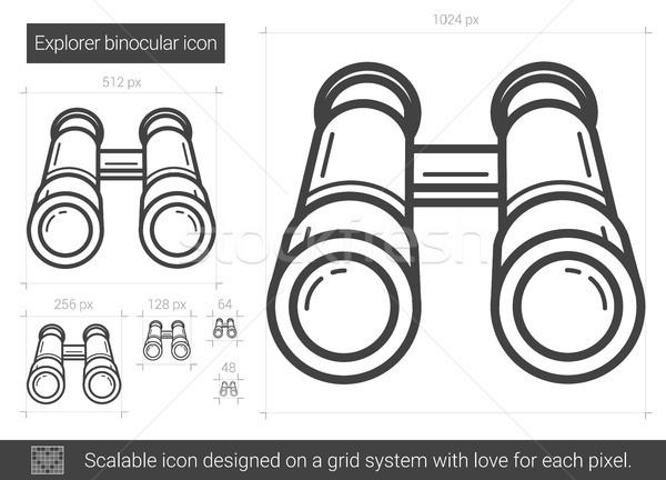 Explorer binocular line icon. Stock photo © RAStudio