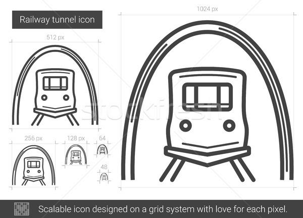 Ferrovia túnel linha ícone vetor isolado Foto stock © RAStudio