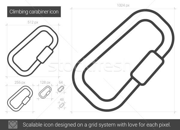 Escalade ligne icône vecteur isolé blanche Photo stock © RAStudio