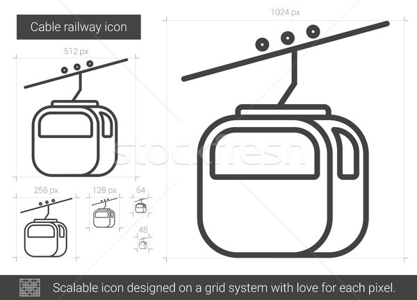 Cable railway line icon. Stock photo © RAStudio