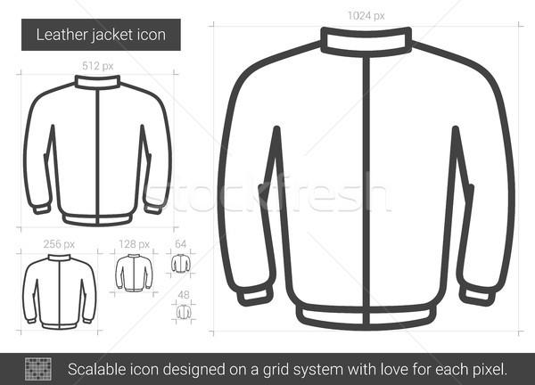 Leather jacket line icon. Stock photo © RAStudio