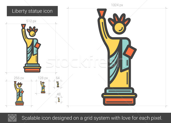 Hörcsög szobor vonal ikon vektor izolált Stock fotó © RAStudio
