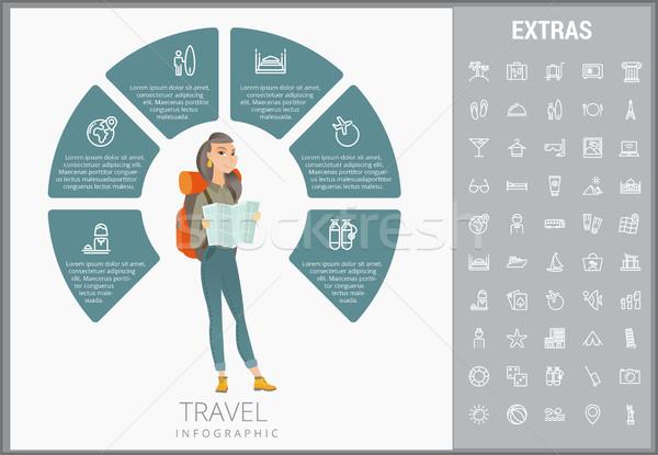 Viajar modelo elementos ícones customizáveis Foto stock © RAStudio