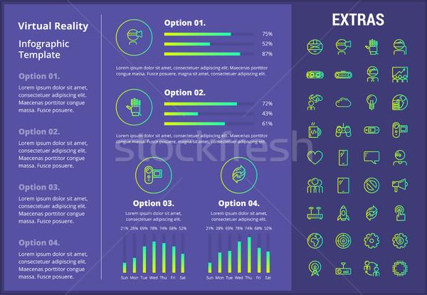 Virtuale realtà infografica modello elementi icone Foto d'archivio © RAStudio