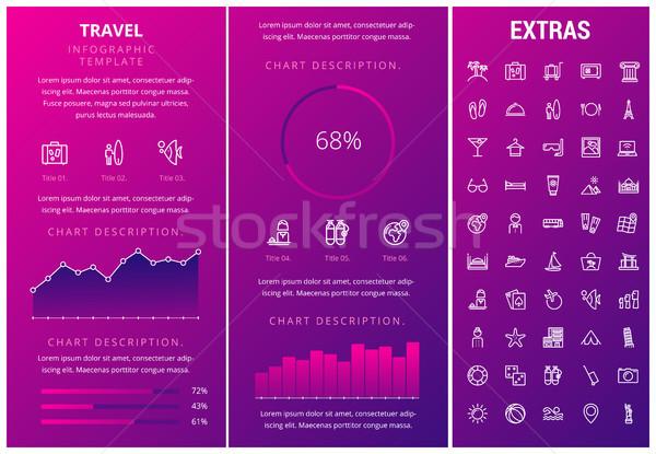 Travel infographic template, elements and icons. Stock photo © RAStudio