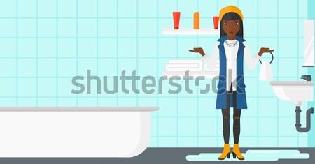 Woman brushing teeth. Stock photo © RAStudio