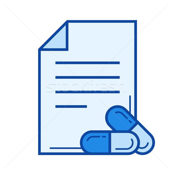 Prescription line icon. Stock photo © RAStudio