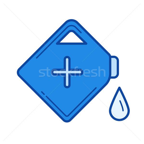 Gasolina lata linha ícone vetor isolado Foto stock © RAStudio