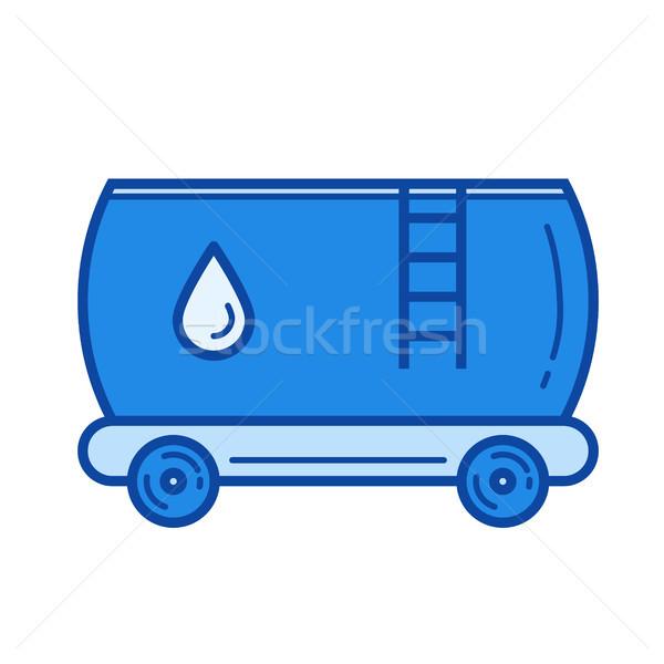 нефть цистерна линия икона вектора изолированный Сток-фото © RAStudio