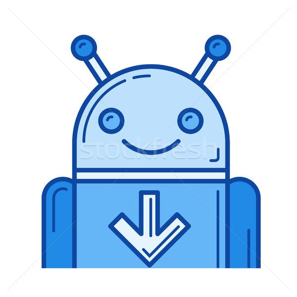 Descargar móviles aplicación línea icono vector Foto stock © RAStudio
