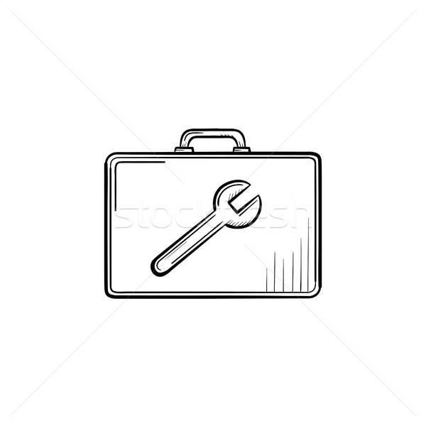 Toolbox hand drawn sketch icon. Stock photo © RAStudio