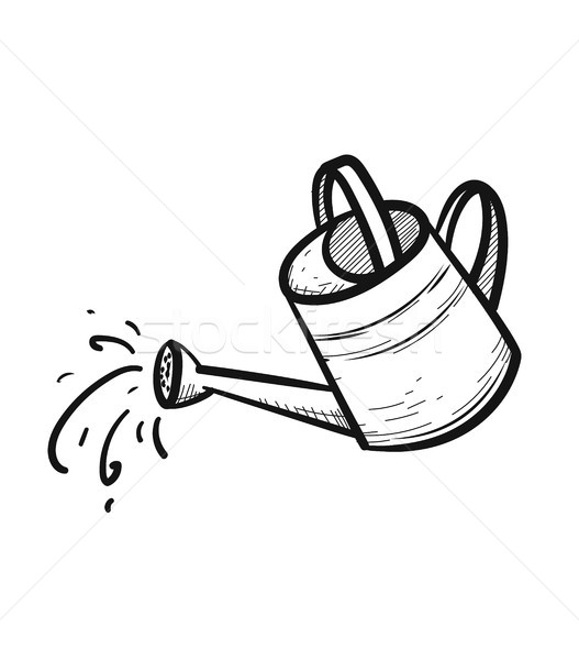 Watering can hand drawn sketch icon. Stock photo © RAStudio