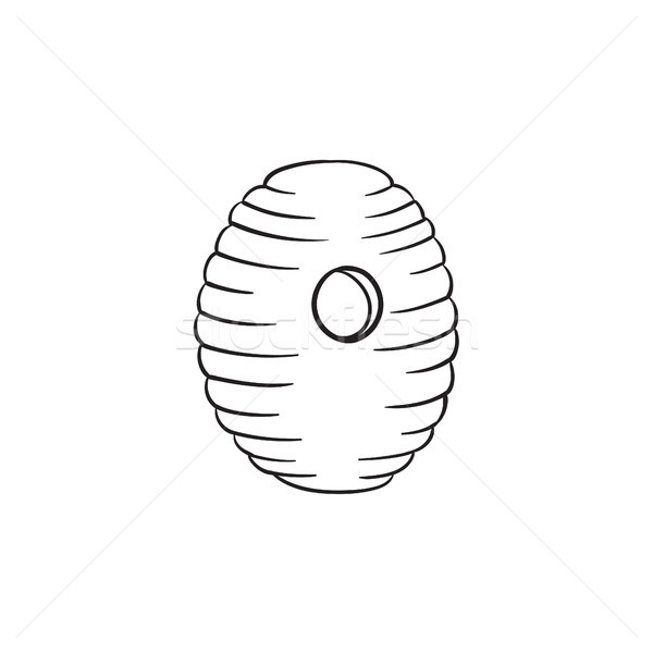 Bee hive hand drawn sketch icon. Stock photo © RAStudio