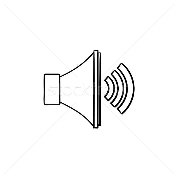 Hangerő irányítás kézzel rajzolt skicc firka ikon Stock fotó © RAStudio