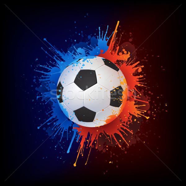 Soccer ball vernice isolato nero vettore acqua Foto d'archivio © RAStudio