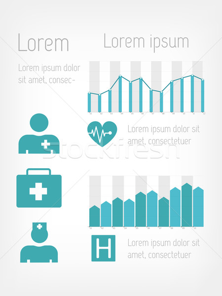 Orvosi infografika infografika elemek vektor kereszt Stock fotó © RAStudio