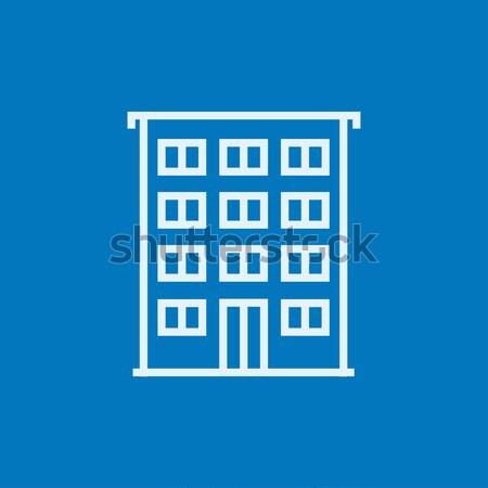 Hotel thin line icon Stock photo © RAStudio