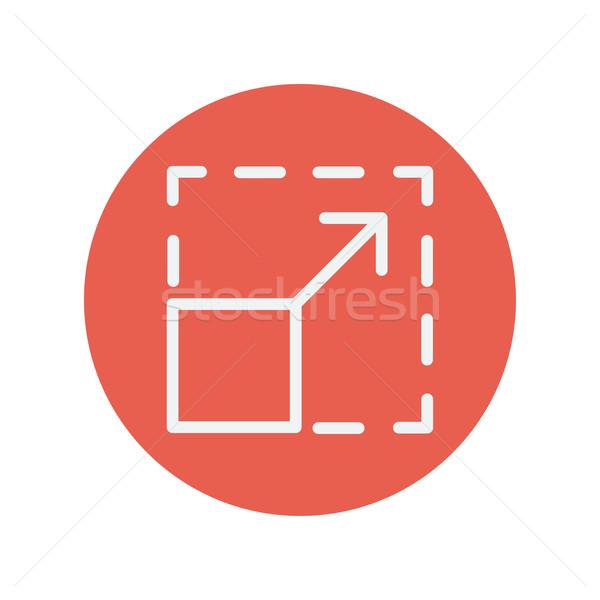 Duyarlı dizayn ince hat ikon web Stok fotoğraf © RAStudio