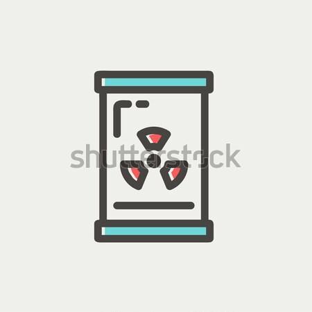 Glass with propeller thin line icon Stock photo © RAStudio