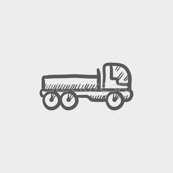 Cargo truck sketch icon Stock photo © RAStudio