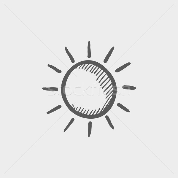 Sun sketch icon Stock photo © RAStudio