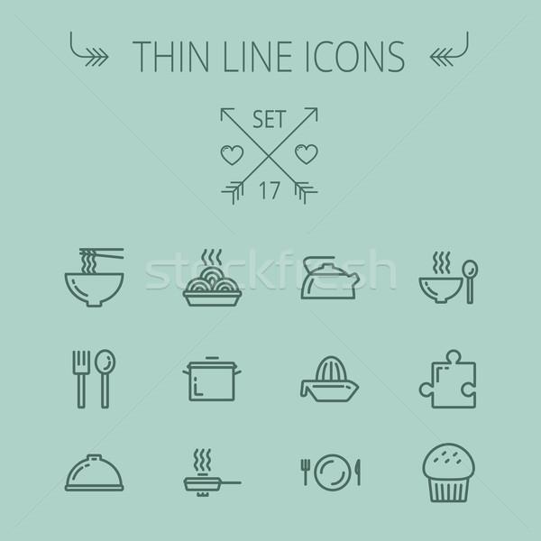 Stockfoto: Voedsel · dun · lijn · web · mobiele