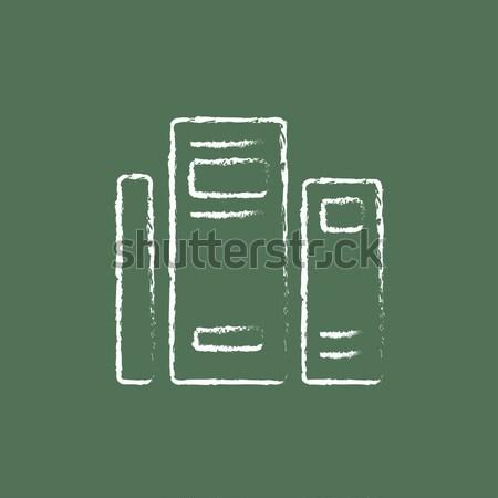 Házbelső bútor ikon rajzolt kréta kézzel rajzolt Stock fotó © RAStudio