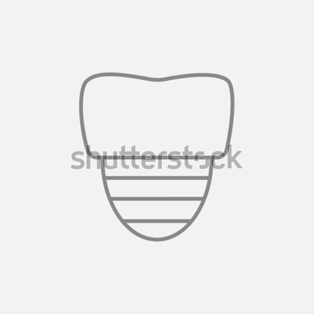 Tooth implant icon drawn in chalk. Stock photo © RAStudio