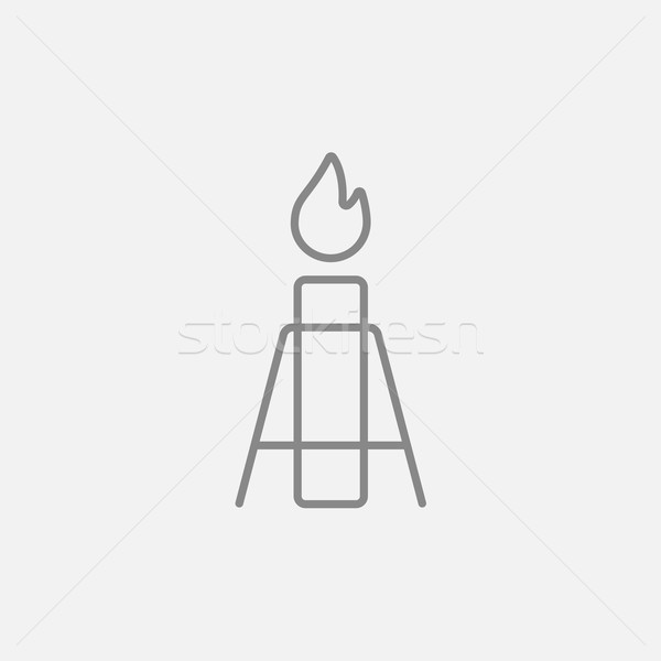 ガス フレア 行 アイコン ウェブ 携帯 ストックフォト © RAStudio