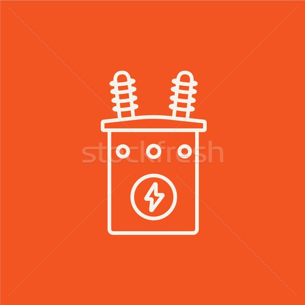 High voltage transformer line icon. Stock photo © RAStudio