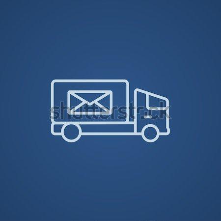 Mail van línea icono web móviles Foto stock © RAStudio
