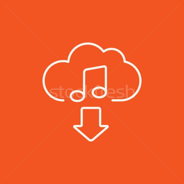 скачать музыку линия икона веб мобильных Сток-фото © RAStudio