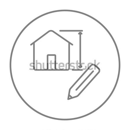 House design line icon. Stock photo © RAStudio