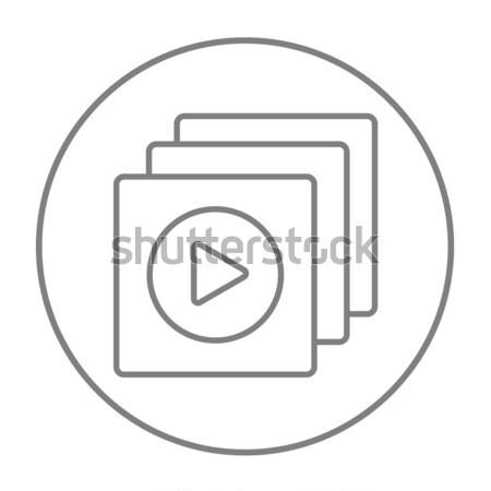 Media player line icon. Stock photo © RAStudio