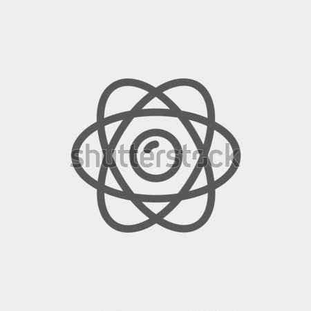 Atom line icon. Stock photo © RAStudio