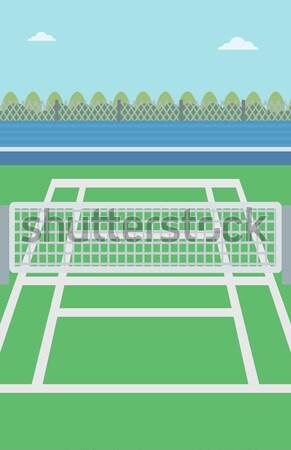 Background of tennis court. Stock photo © RAStudio