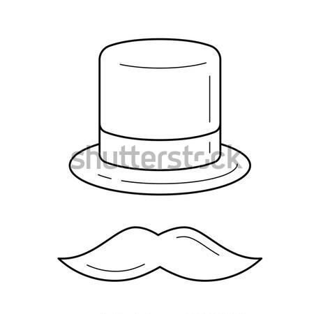 Hat and mustache line icon. Stock photo © RAStudio