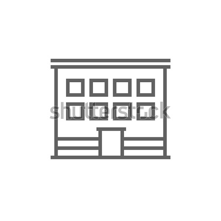 Office building line icon. Stock photo © RAStudio