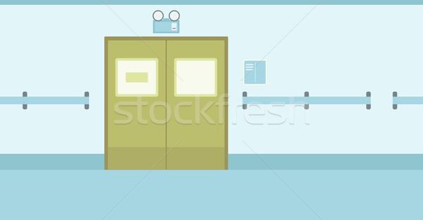 Background of hospital corridor with closed doors. Stock photo © RAStudio