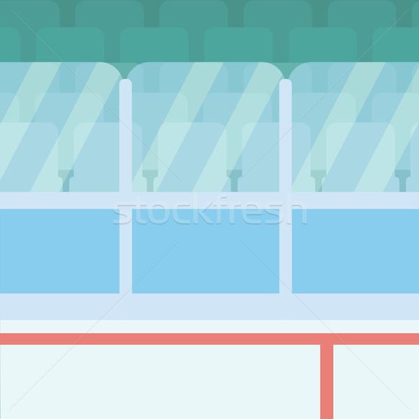 Hokej stadion szkła wektora projektu ilustracja Zdjęcia stock © RAStudio