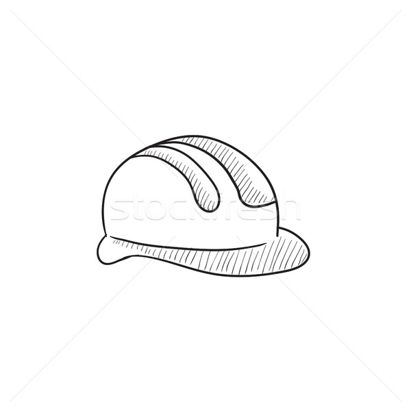 ヘルメット スケッチ アイコン ベクトル 孤立した 手描き ストックフォト © RAStudio