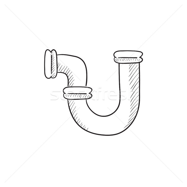 Water pipeline sketch icon. Stock photo © RAStudio