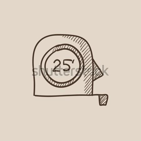 Fita métrica esboço ícone vetor isolado Foto stock © RAStudio