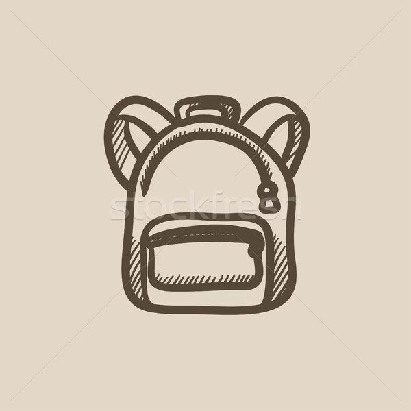 Backpack sketch icon. Stock photo © RAStudio