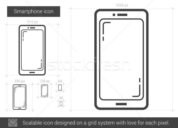 Smartphone line icon. Stock photo © RAStudio